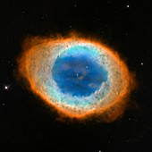 Ring Nebula M57,Hubble image
