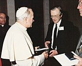 The Pope and Maurice Wilkins,1980