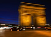Traffic at the Arc de Triomphe,France