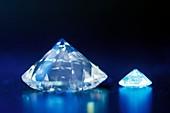 Diamonds under UV light