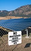 Solar array on landfill site