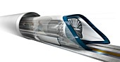 Hyperloop transport,artwork