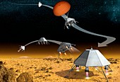 Mars hopper spacecraft,artwork