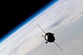 Soyuz TMA-3 spacecraft,ISS image