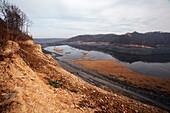 Coal sludge dam,West Virginia,USA