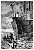 Repairing submarine telegraph cable,1894