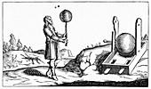 17th Century vacuum experiment,artwork