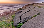 Coastal road erosion