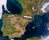 Iberian Peninsula,MODIS image