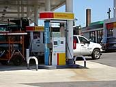 Hydrogen pump at a petrol station,USA
