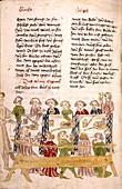 Medieval feast,artwork
