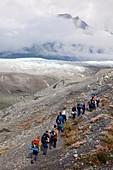 Hiking trip to a glacier