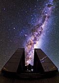 Milky Way above the NTT telescope