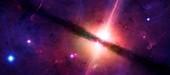 Artwork of a quasar