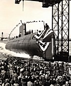 Launch of the first nuclear submarine