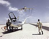 Northrop HL-10 and B-52 aircraft,1969