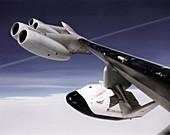 X-38 spacecraft on B-52 wing,1997