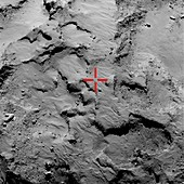 Philae probe landing site