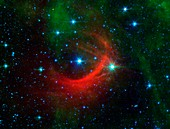 Star shock wave,space telescope image