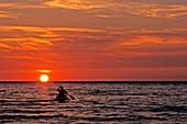 Kayaka at sunset