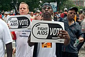 Demonstration for AIDS funding,USA