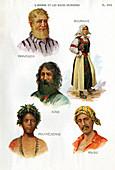Ethnic groups,historical illustration