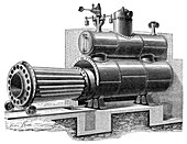 Removable-furnace boiler,19th century