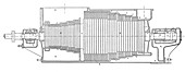 Parsons marine turbine,19th century