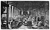 Industrial bakery,19th century