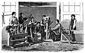 Straw weavers,19th century