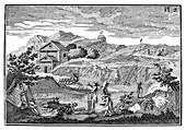 Slate quarrying,19th century