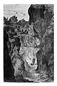 Zinc mine,19th century