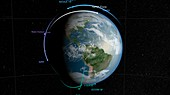GPM satellite constellation,illustration