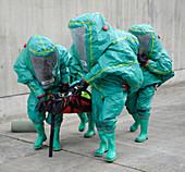 Training exercise for major emergency