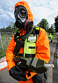 Radiation emergency response worker