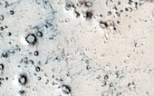 Craters on Mars,MRO image