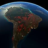 South America deforestation,2000-2012