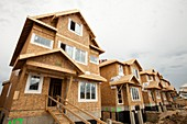 Rows of new houses,Fort McMurray,Canada