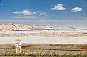 Tailings pond at the Syncrude mine