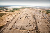 Soil removed to reach tar sands