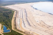Tailings pond at Syncrude mine,Canada