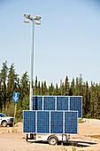 Solar lighting at a tar sands mine