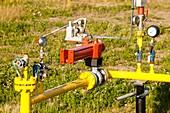 Gas pipeline in Alberta,Canada