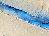 Volcanic vent,Mars,MRO image