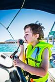 Boy with life jacket