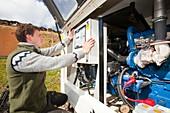 Checking backup diesel generators