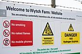 Wytch farm oil well at Kimmeridge Bay