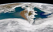 Kamchatka Peninsula phytoplankton bloom