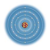 Zinc,atomic structure