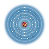 Ruthenium,atomic structure
